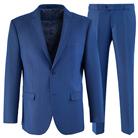 Синий приталенный костюм STENSER К5156