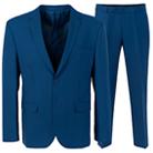 Синий полуприталенный костюм STENSER К5158