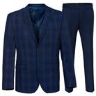 Синий приталенный костюм STENSER К5159