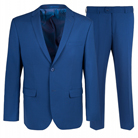 Синий полуприталенный костюм STENSER К5161