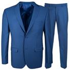 Синий приталенный костюм STENSER К5163