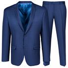 Синий приталенный костюм STENSER К5165