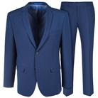 Синий приталенный костюм в мелкую клетку STENSER К5167