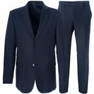 Синий прямой костюм STENSER К5229-3