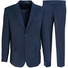 Синий полуприталенный костюм STENSER К735