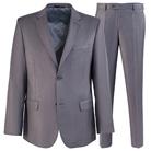 Серый полуприталенный костюм STENSER К736