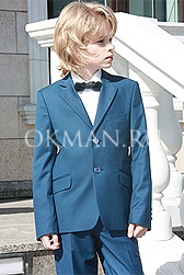 Лазурного цвета костюм для выпускного вечера Kaizer K87