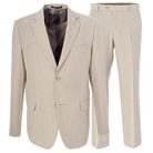 Светлый полуприталенный костюм STENSER К895