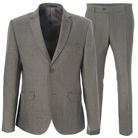 Серый приталенный костюм STENSER К918