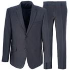 Серый полуприталенный костюм STENSER К925