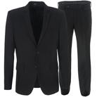 Черный приталенный костюм STENSER К98РА