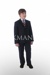 Синий костюм для полного мальчика Stenser 29-3