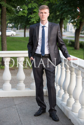 Подростковый темно-серый костюм Kaizer K86P