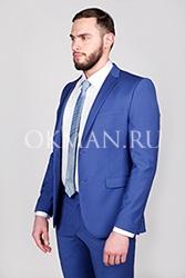 Синий приталенный костюм Кимо Barkland