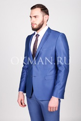 Синий приталенный костюм с лоском Логан Barkland