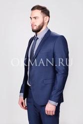 Темно-синий мужской костюм Slim Fit Локки Barkland
