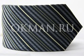 Модный галстук серо-синих тонов