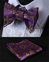 """Бабочка - галстук самовяз с платком  в стиле """"Арабеска"""""""