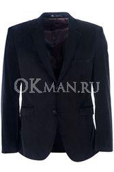 Черный велюровый пиджак STENSER П5509