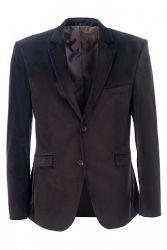 Велюровый коричневый пиджак Stenser 5511