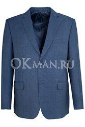 Синий полуприталенный пиджак STENSER П5513