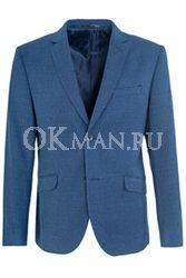 Синий приталенный пиджак STENSER П5514