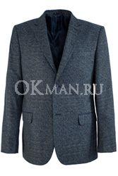 Серый полуприталенный пиджак STENSER П5516