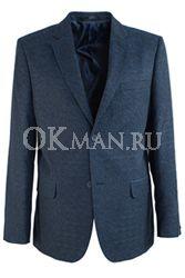 Синий полуприталенный пиджак STENSER П5517