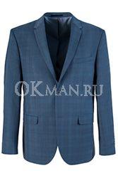 Синий приталенный пиджак STENSER П5519