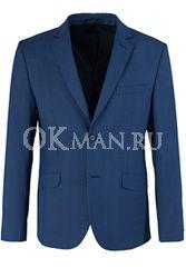 Синий приталенный пиджак STENSER П5520