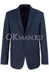 Синий полуприталенный пиджак STENSER П5521