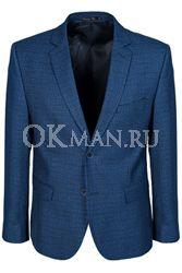 Синий приталенный пиджак STENSER П5523
