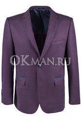 Бордовый приталенный пиджак STENSER П5524