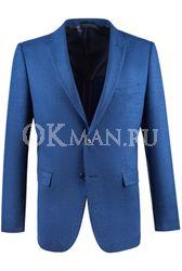 Синий приталенный пиджак STENSER П5525