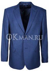 Синий полуприталенный пиджак STENSER П5526