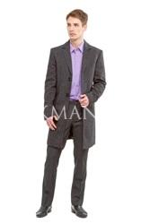 Утепленное приталенное пальто Stenser 7011