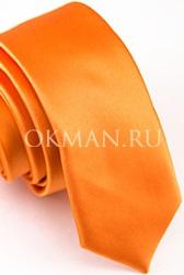 Узкий апельсиновый галстук