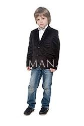 Велюровый детский пиджак коричневого цвета