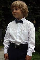 Piero Lusso однотонная белая рубашка для мальчика