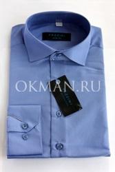 Подростковая рубашка синего цвета Fazzini