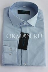 Подростковая рубашка голубого цвета Carat