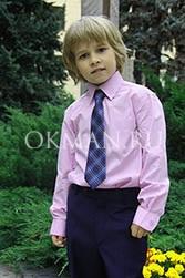 Piero Lusso сиреневая однотонная рубашка для мальчика