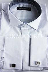 Приталенная рубашка с воротником под бабочку с запонками Nino Pacoli