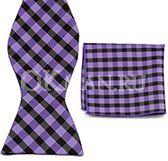 Фиолетовая бабочка-галстук + платок