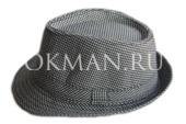 Серая с геометрическим рисунком шляпа