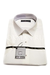 Мужская рубашка с коротким рукавом цвета Айвори