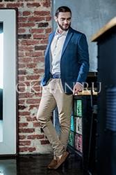 Стильный легкий мужской приталенный пиджак в клетку Спарк Barkland