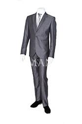 Стального цвета костюм для выпускного K09