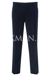 Зауженные стильные брюки синего цвета Stenser 3138