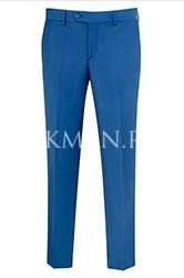 Зауженные синие молодежные брюки Б3146